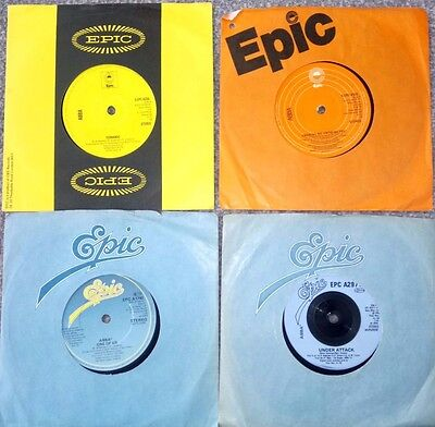 """4 X Abba 7"""" Single Records All In Company Record Sleeves"""