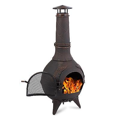 Garden Heater Bonfire Firepit Chimney Terrace Stove Iron 120 Cm Poker Charcoal