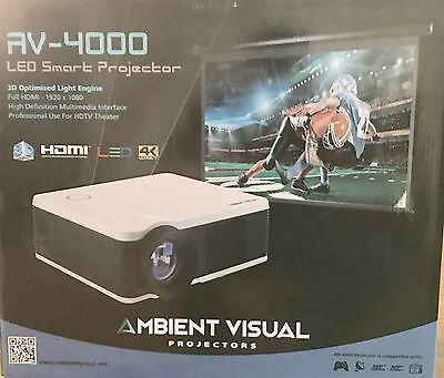Ambient AV 4000 Projector TV *With Bulb*