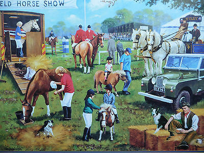 The Horse Show 1000 Piece Gibsons  Jigsaw Used