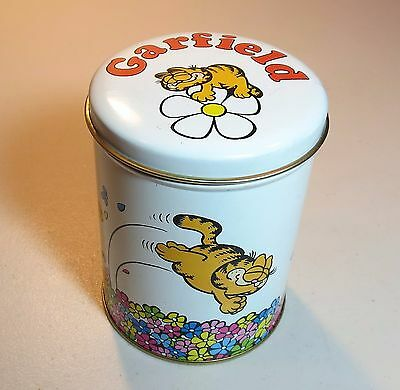 GARFIELD Cat TIN - Vintage 1978 - Jim Davis - Round - Bristol Ware