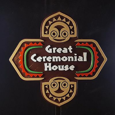 Polynesian Themed Longhouse Sign / Plaque - Great Ceremonial House