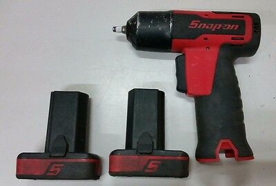 "Snap On Ct725 1/4"" Drive 14.4V Cordless Impact Wrench W/ 2 Batteries"