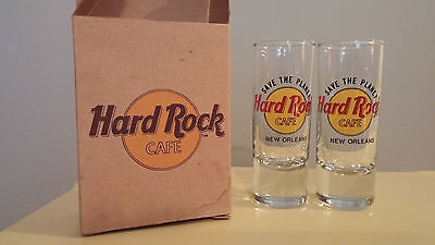 HARD ROCK CAFE New Orleans Save the Planet Shooter Glasses Barware NEW Set of 2
