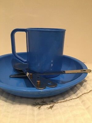 Camping Set -plate/bowl + Cup + Cutlery Set