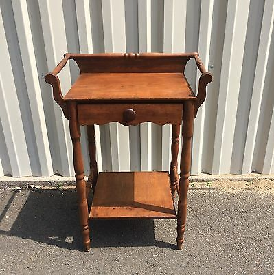 Antique Wood Sheraton Wash Stand ~ Colonial Americana