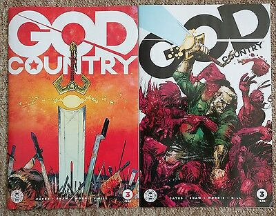 God Country #3 Covers A and B 1st Prints Donny Cates Geoff Shaw Image NM Rare