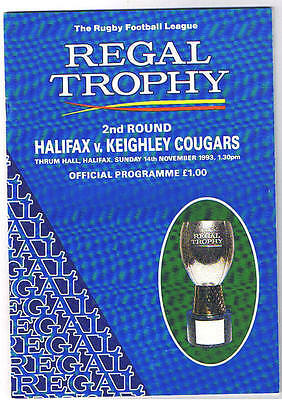 Halifax v Keighley Cougars 1993/4 Regal Trophy