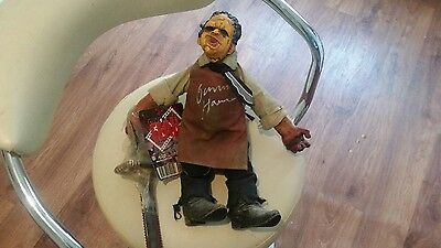 mezco leatherface plush (signed by Gunnar Hansen )