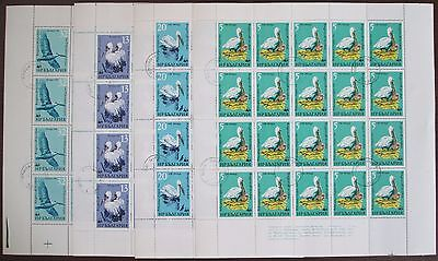 Bulgaria 1984 WWF Birds Pelicans Full Sheets cancelled