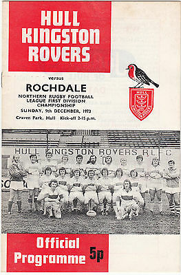 Hull Kingston Rovers v Rochdale 1973/4