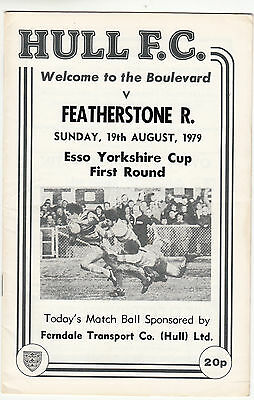 Hull FC v Featherstone Rovers 1979/80 (19 Aug) Yorkshire Cup