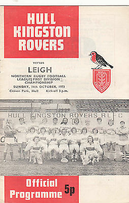 Hull Kingston Rovers v Leigh 1973/4