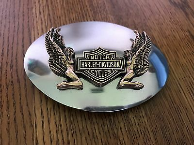 Harley Davidson Bar & Shield Logo with Angels with classic HD wings Belt Buckle
