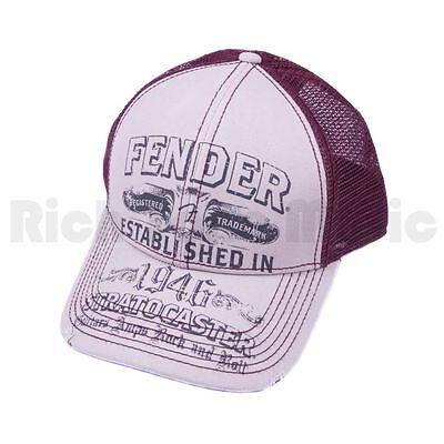 Fender Straocaster Trucker Cap - White/Wine - One size