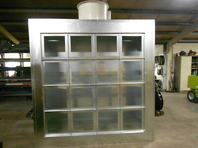 8ft WIDE EXHAUST WALL --  1/2 OFF SHIPPING