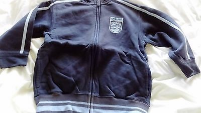 Boys  Zip Through Sweat Jacket England Football -Official Product- Age 5 Years