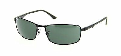 Ray-Ban RB3498 002/71 Black Frame Green Classic 61mm Lens Sunglasses