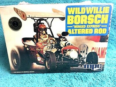 """WILD WILLIE BORSCH """"WINGED EXPRESS""""  ALTERED ROD 1/25 th SCALE MODEL KIT BY MPC"""