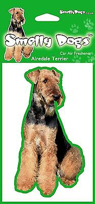 2 x Airedale Terrier (b) Fragrant Air Freshener - Perfect Gift