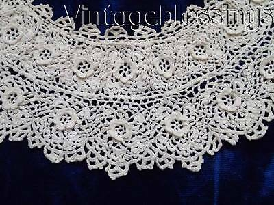 Gorgeous Antique Irish Lace Collar & Cuffs  So Delicate
