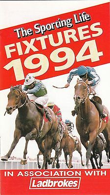 Sporting Life National Race Fixtures Booklet 1994
