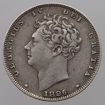 Great Britain Six Pence 1826   #t19 101