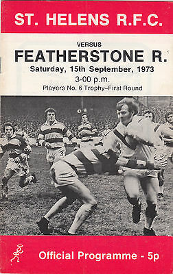 St Helens v Featherstone Rovers 1973/4 (15 Sep) No.6 Trophy
