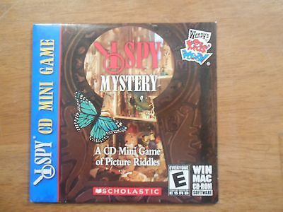 I Spy CD-ROM Mini Game of Picture Riddles, Wendy's kids Meal Scholastic Software