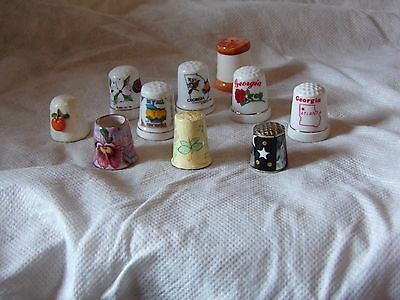 Lot of 10 Mixed Thimbles