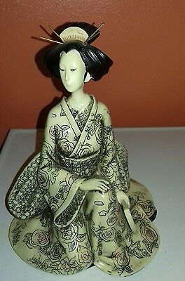Japanese Geisha resin figurine ornament