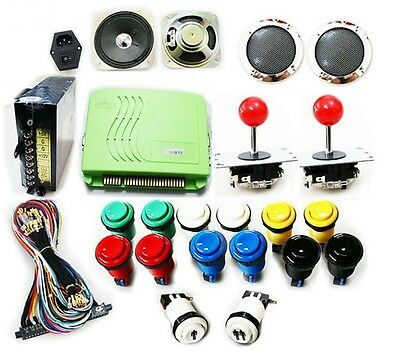 Arcade Bundle Kit Set Jamma Mame Joystick Buttons Speakers w/ 800 in 1 PCB Games