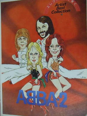 ABBA Best Collection Vol.2 Electone Music book photo vintage Eagle