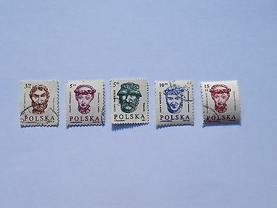 5 x Polish Stamps Socialist Communist Era 1984-1988