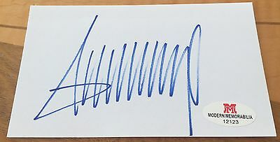Donald Trump Auto Signed Index Card With COA Autograph