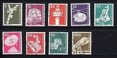 Lote sellos usados diferentes Alemania tecnologia Lot tech used stamps Germany