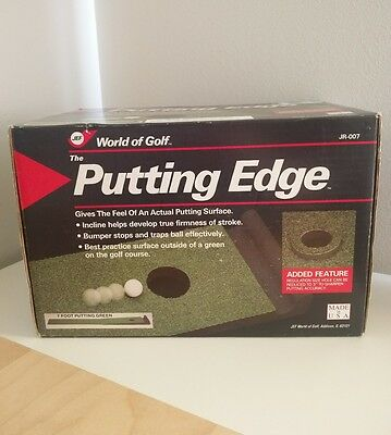 The Putting Edge World Of Golf 7 Foot Putting Green Indoor Practice Mat USA Made