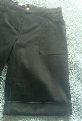 ladies black shorts by Casual size 14