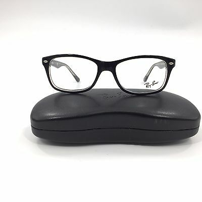 New Ray-Ban Rb 5228 Eyeglasses Frame Italy Black Clear 53Mm Optical