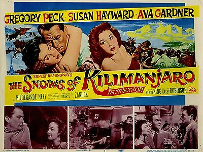 """The  snows of kilimanjaro 16"""" x 12"""" Reproduction Movie Poster Photograph"""