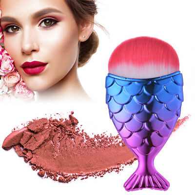 Fishtail Makeup Brush Mermaid Shape Foundation Blush Cosmetic Soft Brush MT503