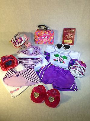 Build A Bear Purple Collection Of Holiday Items With Accessories,