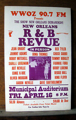 NEW ORLEANS R&B REVUE original 1982 Municipal Auditorium poster_IRMA THOMAS plus