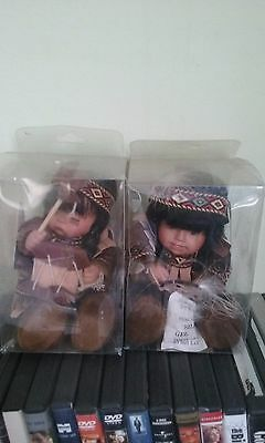 2001 The Emerald Doll Collection mini Indian Willie dolls