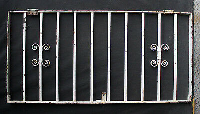 46x22 Antique Vintage Steel Iron Metal Fence Gate Door Panel Window Guard Grille