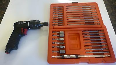 Matco 34 Piece Quick Change Bit Set and Husky Air Powered Bit Driver, Nice Set