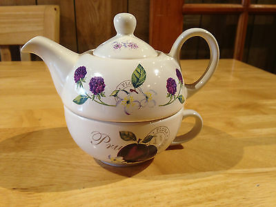 Price & Kensington Tea Pot And Cup For One  - Country Fruits Pattern