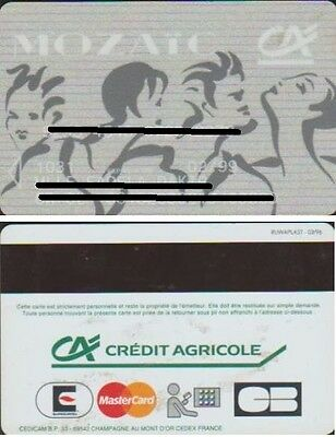 Credit Agricole Mozaïc Carte Bancaire Expiree 02/99 Nominative