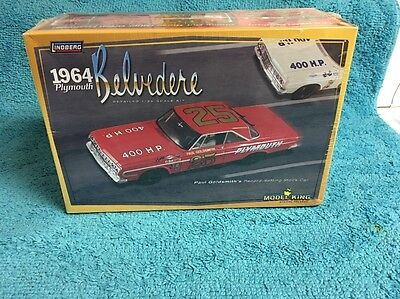 LINDBERG 11254 1/25 Scale 1964 PLYMOUTH BELVEDERE Plastic Model #LIN11254