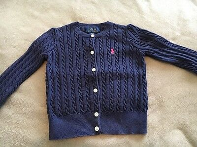 RALPH LAUREN GIRLS NAVY BLUE CARDIGAN SIZE 4years